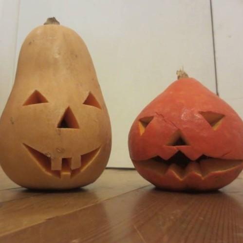 お子さんと作ったハロウィンかぼちゃ