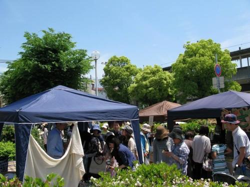 5月に行われたサンデーマーケット。次回は12月13日です。
